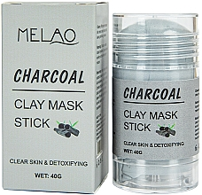 Perfumería y cosmética Mascarilla stick facial detox con arcilla y carbón activado - Melao Charcoal Clay Mask Stick