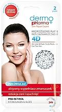 Perfumería y cosmética Parches para ojos de hidrogel con pro retinol, fito colágeno y aloe vera - Dermo Pharma 4D Wrinkle & Dark Circle Reducer Gel Patches