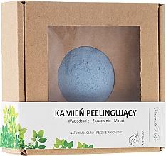 Perfumería y cosmética Piedra natural para exfoliación y masaje facial, azul - Pierre de Plaisir Natural Scrubbing Stone Face