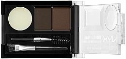 Perfumería y cosmética Sombras de cejas para efecto ultra natural con dos cepillos - NYX Professional Makeup Eyebrow Cake Powder