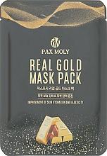 Perfumería y cosmética Mascarilla facial de tejido antiedad con oro coloidal - Pax Moly Real Gold Mask Pack
