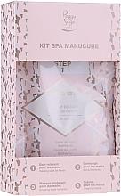 Perfumería y cosmética Kit SPA de manicura - Peggy Sage Spa Manucure Kit (caviar de baño/20g + gel exfoliante/15ml + mascarilla de manos/15ml + crema de manos/15ml)