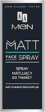 Perfumería y cosmética Spray facial matificante con D-pantenol y extracto de aloe - AA Men Matt Face Spray
