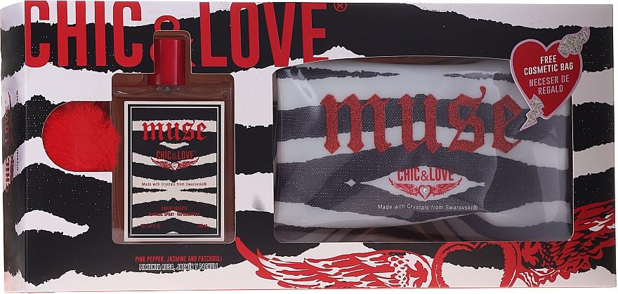 Chic&Love Muse - Set (eau de toilette/100ml + neceser)