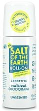 Perfumería y cosmética Desodorante roll-on orgánico sin fragrancia - Salt of the Earth Effective Unsented Roll-On Deo