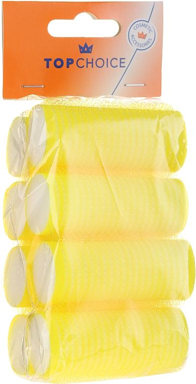 Rulos para cabello de velcro 25mm, 3387 amarillo - Top Choice