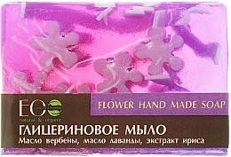 Perfumería y cosmética Jabón artesanal de glicerina con aceite de lavanda, varbena & iris - ECO Laboratorie Flower Hand Made Soap