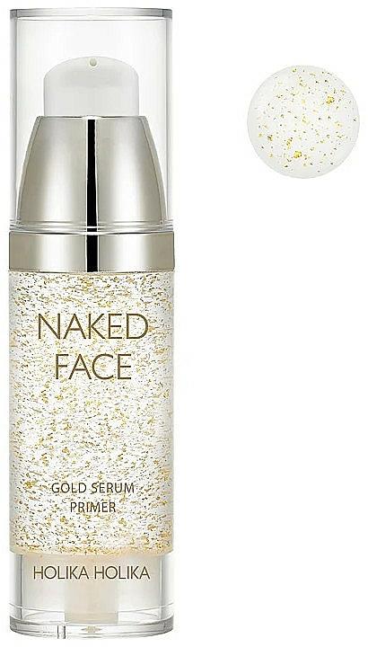 Sérum base para una piel translúcida con un brillo radiante - Holika Holika Naked Face Gold Serum Primer