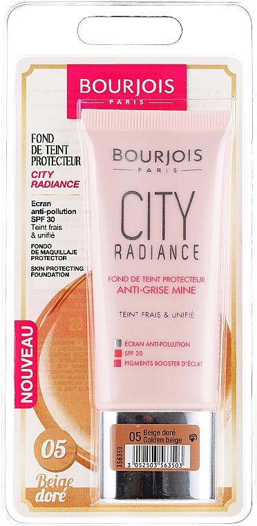 Base de maquillaje protectora potenciadora de luminosidad SPF30 - Bourjois City Radiance SPF30