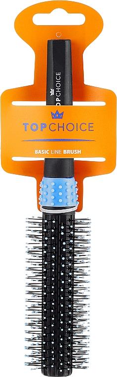 Cepillo para cabello redondo, negro y azul, 2083 - Top Choice