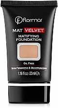 Perfumería y cosmética Base de maquillaje hidratante con efecto mate - Flormar Mat Velvet Matifying Foundation