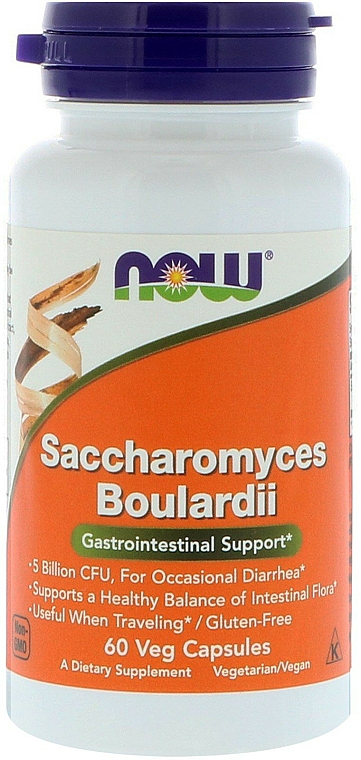 Complemento alimenticio probiótico en cápsulas - Now Foods Saccharomyces Boulardii