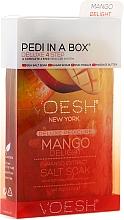 Perfumería y cosmética Set para pedicura con mango para piel seca - Voesh Pedi In A Box Deluxe 4 Step Pedicure Mango Delight