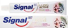 Perfumería y cosmética Pasta dental con aceite de clavo - Signal Long Active Nature Elements Clove Sensitive
