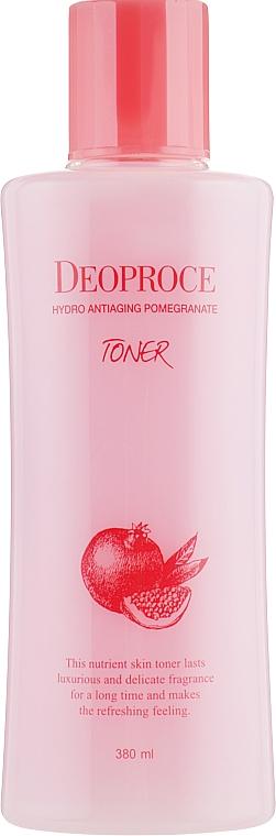 Tónico facial antiedad con extracto de granada y ácido hialurónico - Deoproce Hydro Antiaging Pomegranate Toner