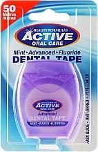 Perfumería y cosmética Hilo dental con aroma a menta, 50m - Beauty Formulas Active Oral Care Advanced Mint Waxed Fluor 50 m