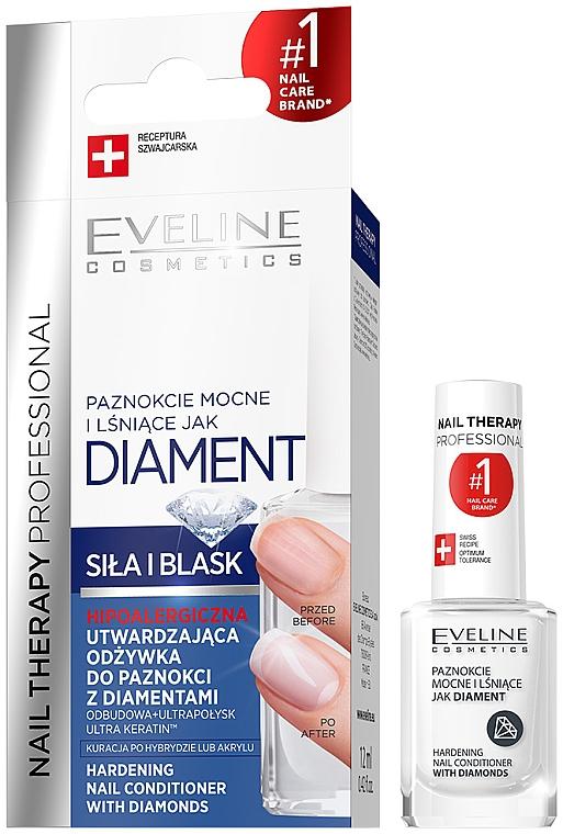 Tratamiento endurecedor de uñas con polvo de diamante y titanio - Eveline Cosmetics Nail Therapy Professional