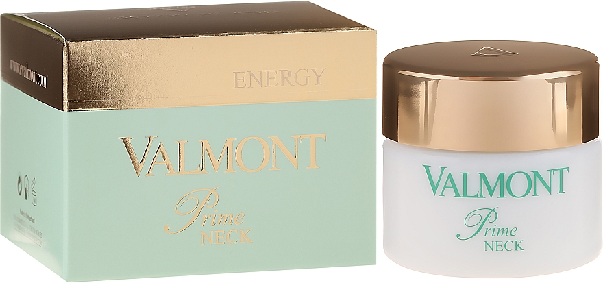 Crema para cuello reafirmante con triple ADN, liposomas y péptidos - Valmont Energy Prime Neck — imagen N1