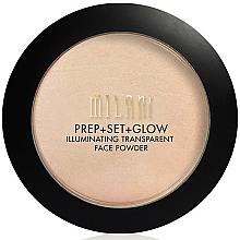 Perfumería y cosmética Prebase de maquillaje, polvo fijador & iluminador vegano 3 en 1 - Milani Prep + Set + Glow Illuminating Transparent Powder