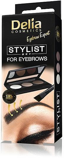 Paleta de sombras de cejas - Delia Cosmetics Eyebrow Expert Stylist Set