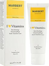 Perfumería y cosmética Crema facial hidratante enriquecida para pieles secas - Marbert I Love Vitamins Rich Vitamin Care
