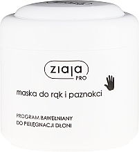 Perfumería y cosmética Mascarilla de manos y uñas con aceite de canola y semilla de algodón - Ziaja Pro Hand and Nail Mask