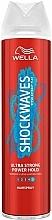 Perfumería y cosmética Laca de cabello, fijación extra fuerte - Wella Shockwaves Ultra Strong Power Hold Spray