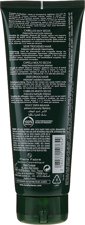 Mascarilla capilar nutritiva con manteca de karité - Rene Furterer Nutri Karite Mask — imagen N2