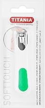 Perfumería y cosmética Cortaúñas cromado, blanco con verde - Titania