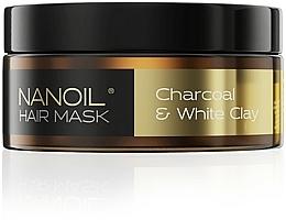 Perfumería y cosmética Mascarilla capilar detox con carbón activado y arcilla blanca - Nanoil Charkoal & White Clay Hair Mask