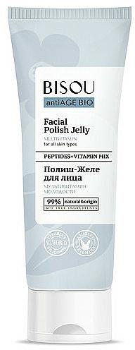 Gel facial antiedad con complejo peptídico y vitaminas - Bisou AntiAge Bio Facial Polish Jelly