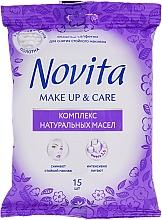 Perfumería y cosmética Toallitas desmaquillantes con aceites naturales - Novita Delicate