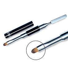 Perfumería y cosmética Pincel aplicador bilateral de gel, № 12 - Elisium