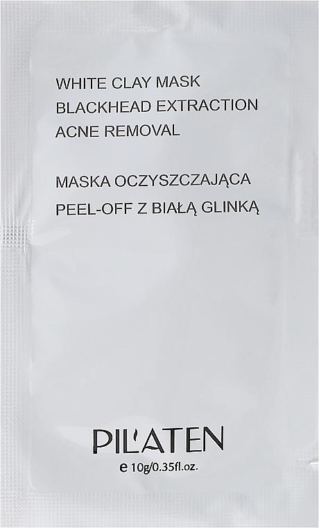 Mascarilla facial peel-off con arcilla blanca - Pilaten White Clay Mask Blackhead Extraction Acne Removal