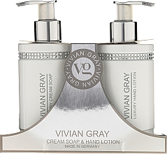 Perfumería y cosmética Set (jabón líquido/250ml + loción de manos/250ml) - Vivian Gray White Crystals Set