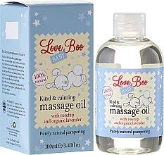 Perfumería y cosmética Aceite de masaje calmante para bebés con jojoba y lavanda - Love Boo Baby Kind & Calming Massage Oil