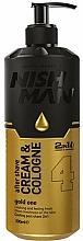 Perfumería y cosmética Crema y colonia 2 en 1 aftershave con alantoína - Nishman After Shave Cream Cologne 2in1 Gold One №04