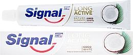 Perfumería y cosmética Pasta dental blanqueadora con zinc y extracto de coco - Signal Long Active Nature Elements Coco White