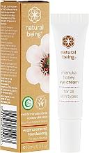 Perfumería y cosmética Crema contorno de ojos con aceite de jojoba, extracto de pomelo & miel de manuka - Natural Being Manuka Honey Eye Cream