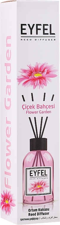 Ambientador Mikado con aroma a jardín de flores - Eyfel Perfume Reed Diffuser Flower Garden