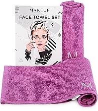 """Perfumería y cosmética Set toallas faciales de viaje, lilas """"MakeTravel"""" - Makeup Face Towel Set"""