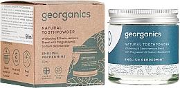 Perfumería y cosmética Polvo dental con carbón activo, magnesio y sodio bicarbonato - Georganics English Peppermint Natural Toothpowder