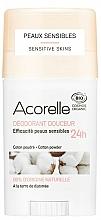 Perfumería y cosmética Desodorante stick orgánico para piel sensible - Acorelle Deodorant Stick Gel Cotton Powder