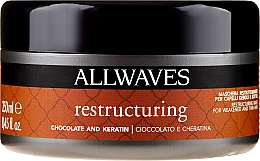 Perfumería y cosmética Mascarilla con chocolate & queratina - Allwaves Chocolate And Ceratine Restructuring Mask