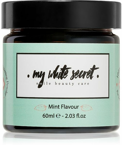 Polvo dental blanqueador, sabor menta - My White Secret Whitening Powder