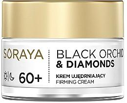 Perfumería y cosmética Crema facial reafirmante con extracto de orquídea negra y polvo de diamante - Soraya Black Orchid & Diamonds 60+ Firming Cream