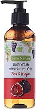 Perfumería y cosmética Gel de ducha con aceite esencial de semilla de uva & jojoba, aroma a higo - Belle Nature Bath Wash Figs&Grapes