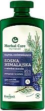 Perfumería y cosmética Espuma de baño refrescante con pino del Himalaya y miel de manuka - Farmona Herbal Care