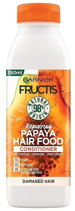 Acondicionador reparador para cabello dañado con papaya - Garnier Fructis Repairing Papaya Hair Food Conditioner