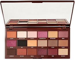 Perfumería y cosmética Paleta de sombras de ojos, 18 colores - I Heart Revolution Cranberries & Chocolate Palette